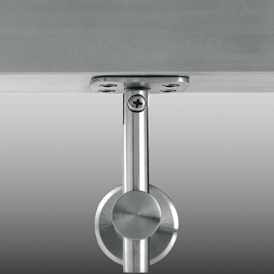 Square stainless steel handrail