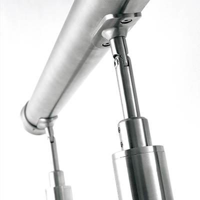 Exterior stainless steel handrail