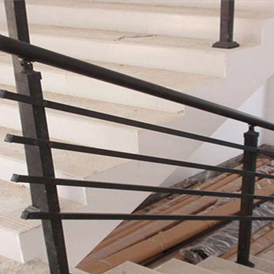 DIY black pipe stair railing
