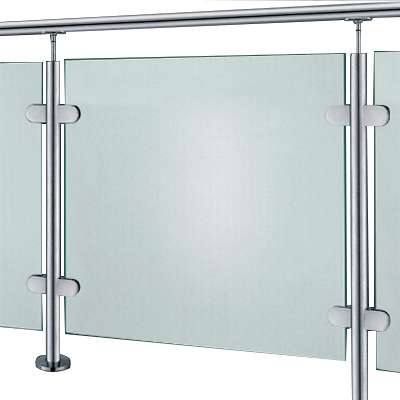 Glass stainless steel handrail
