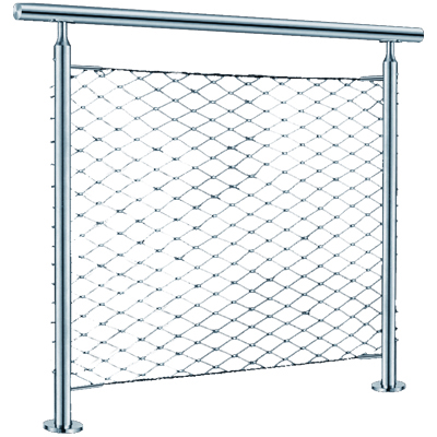 steel mesh Stainless handrail /free standing stainless steel handrail
